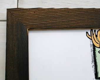 """12x16 Charcoal Wood [Thin x 1.25""""] Picture Frame"""