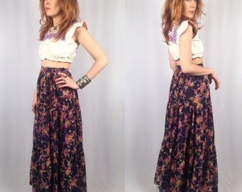 Vintage 1960's floral skirt Nancy G small
