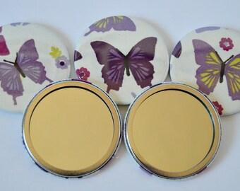 Purple Butterflies Pocket Mirror/Mirrors