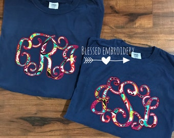 Monogrammed comfort color shirt