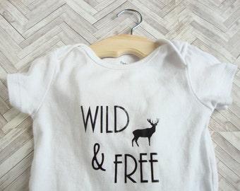 Wild and Free, baby bodysuit