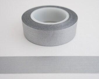 Solid Silver Washi Tape - Holiday Masking Tape - Christmas Gift Wrap Tape - Journaling - Scrapbooking