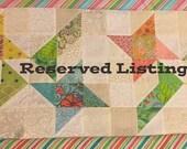 Reserved Listing for Helen, Easter Table Runner