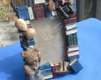 Retro Teddy Bear Resin Picture Frame TLC