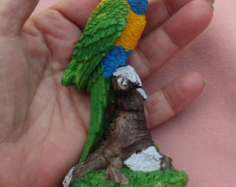 Retro Colorful Parrot Resin Figurine TLC