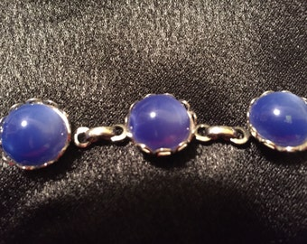 Royal blue cats eye stone bracelet