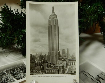 The Empire State Building 1940s Postcard