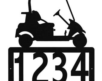 Golf Cart Address Sign Metal