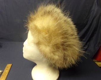 Real opossum tanned taxidermy fur hide skin pelt Hat mountain man Native American pow-wow dance regalia rendezvous