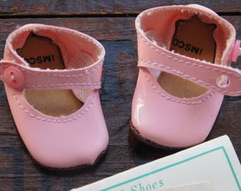 Imsco Pink Patent Synthetic Leather Mary Jane Doll Shoes ~ Size 1