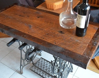 Reclaimed Wine Table