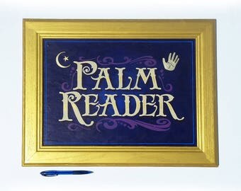 Palm Reader painted sign Psychic Fortune Teller