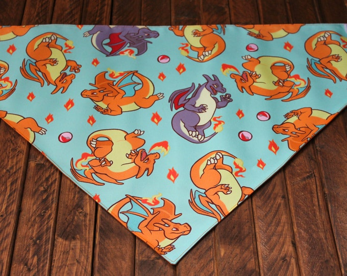 Extra Large Bandana with Velcro Closure - Charizard