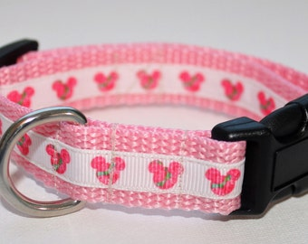 Lilly Inspired Minnie Mouse**Small Dog Collar**