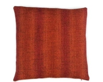 "Maharam Wool Striae - Torch - pillow (both sides) 17"" x 17"" feather insert included"