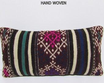 boho throw pillow pastel bohemian pillow cover tribal rug pillow burlap throw pillow kelim rug pillow aztec cushion kilim pillow sham F1983