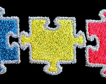 Jigsaw Pieces Machine Embroidery Designs