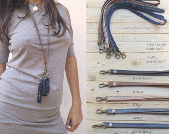 leather lanyard, Leather keychain, leather key strap, Leather Neck Strap, leather neck lanyard, leather lanyard strap, Xmas Gift