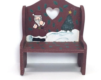 Toy Furniture Miniature Furniture Christmas Bench Furniture Small Wood Toy Furniture