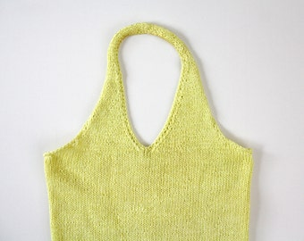 Vintage Yellow Knit Halter Top