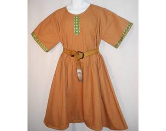 Sz L Medieval Cotton Norman, Saxon, or Viking Tunic SCA, LARP