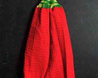 Red and Green Kitchen Hand Towel