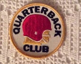 QUARTERBACK CLUB Sew-On Patch Sewing