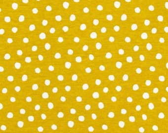 Organic Knit fabric Sprout Dot - Cloud 9 Fabrics - Half Yard - solid knit fabric, organic fabric, cloud9, cloud nine, citron interlock knit
