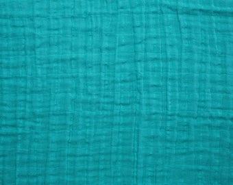 Teal Double Gauze, Shannon Fabrics Double Gauze, Teal fabric, Embrace Double Gauze Cotton Solid, Cotton Muslin Swaddle Fabric, 100% cotton