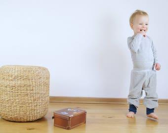 baggy pants organic cotton velour grey blue,toddler velvet pants grey,kids organic pant,baby velour pants,baby harem pants,sweat pants
