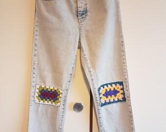 Crochet patch Girlfriend Jeans W25 L30