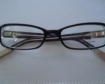 925 silver tips and sides black frames by designer dop 49 17 zyl handmade in - Zyl Frames