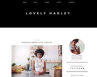 Blogger Template Responsive - Blogger Theme - Blog Design - Fashion Blog - Blogspot Template - Minimal Blog Design
