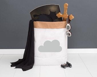 Paper bag M - cloud grey - powder cloud