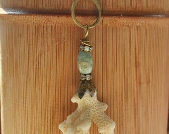 Hawaiian beach coral pendant