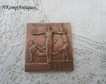 Gymnastic medal/plaque signed