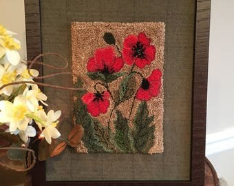 Field Of Poppies Punch Needle Pattern