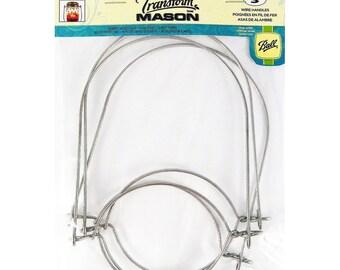 3 Metal Wire HANDLES for Regular mouth Ball Kerr glass Canning Jar jar hanging carry lantern handle TRANSFORM MASON loew cornell 1026287