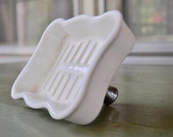 Soap Dish Vintage Soap Dish Ceramic Porcelain Soap Dish American Standard Standard Soap Dish Kitchen Faucet Soap Dish Farmhouse Decor