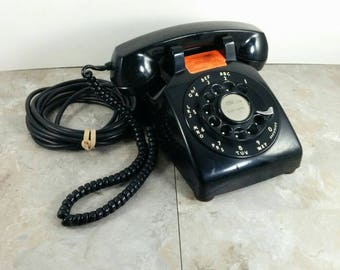 Vintage Western Electric Bell System Rotary Phone with Long Cord - Great Condition