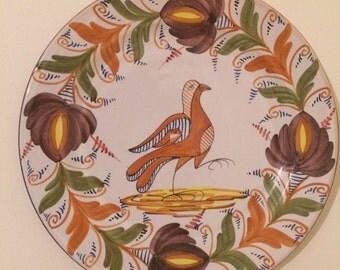 Majolica VTE MARTINEZ ceramic decorative Wall plate, Spanish Traditional hand painted unique wall art, Gift idea