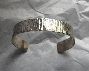 Vintage JOHN LEWIS Modernist Sterling Cuff Bracelet; Wind on the Water or Leaves of Grass?