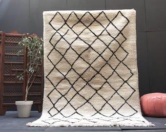 moroccan rugs area rug 5x8 beni ourain rug large moroccan rug handmade rug bohemian tribal rug