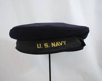 Vintage 1940s WWII US Navy hat beret tam