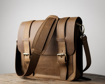 iPad Messenger Bag, Leather Satchel, iPad Case, Tablet Messenger Bag - Original Design by JooJoobs - Listing #019