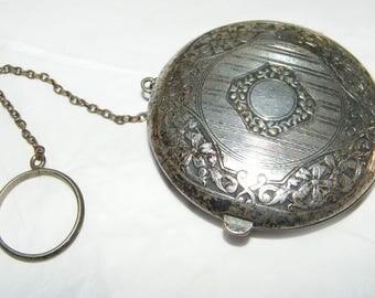 Vintage German Silver  Compact