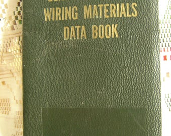 1951 General Electric Wiring Materials Data Book, Construction Materials Division,Bridgeport,Conn.  1951 National Electrical Code,