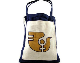 Vintage 1975 Handmade Tote Bag with International Women's Year 1975 Symbol