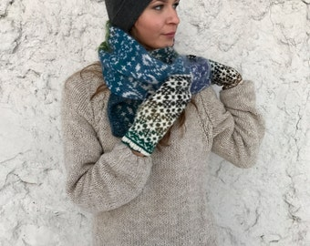 Winter mittens Fair Isle mittens Women's mittens Natural wool mittens Noro mittens Ready to ship