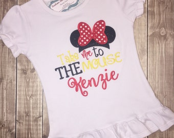 Minnie mouse shirt, Minnie vacation shirt, minnie mouse, disney shirt, minnie disney shirt, personalized shirt, embroidered shirt, minnie